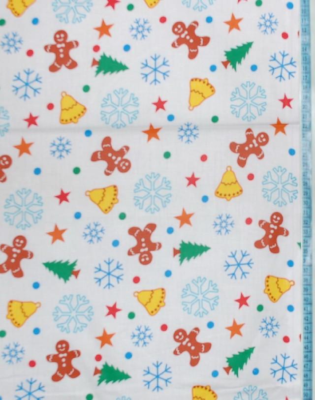 METRÁŽ bavlna vánoční šíře 160 cm - Perníčky na bílé - Svět textilu ... dbbb9fcb72b